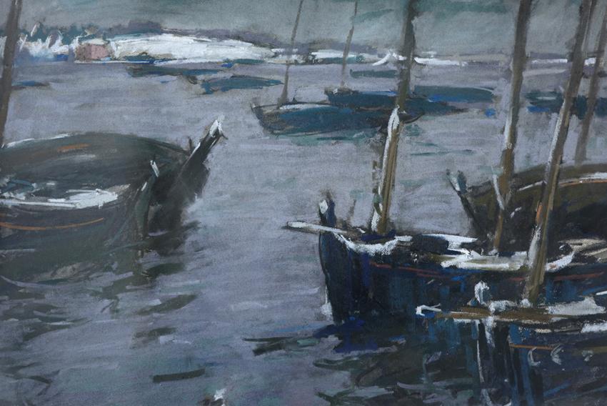 Barques à Concarneau (détail)