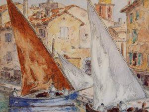 Deux tartanes à Saint-Tropez