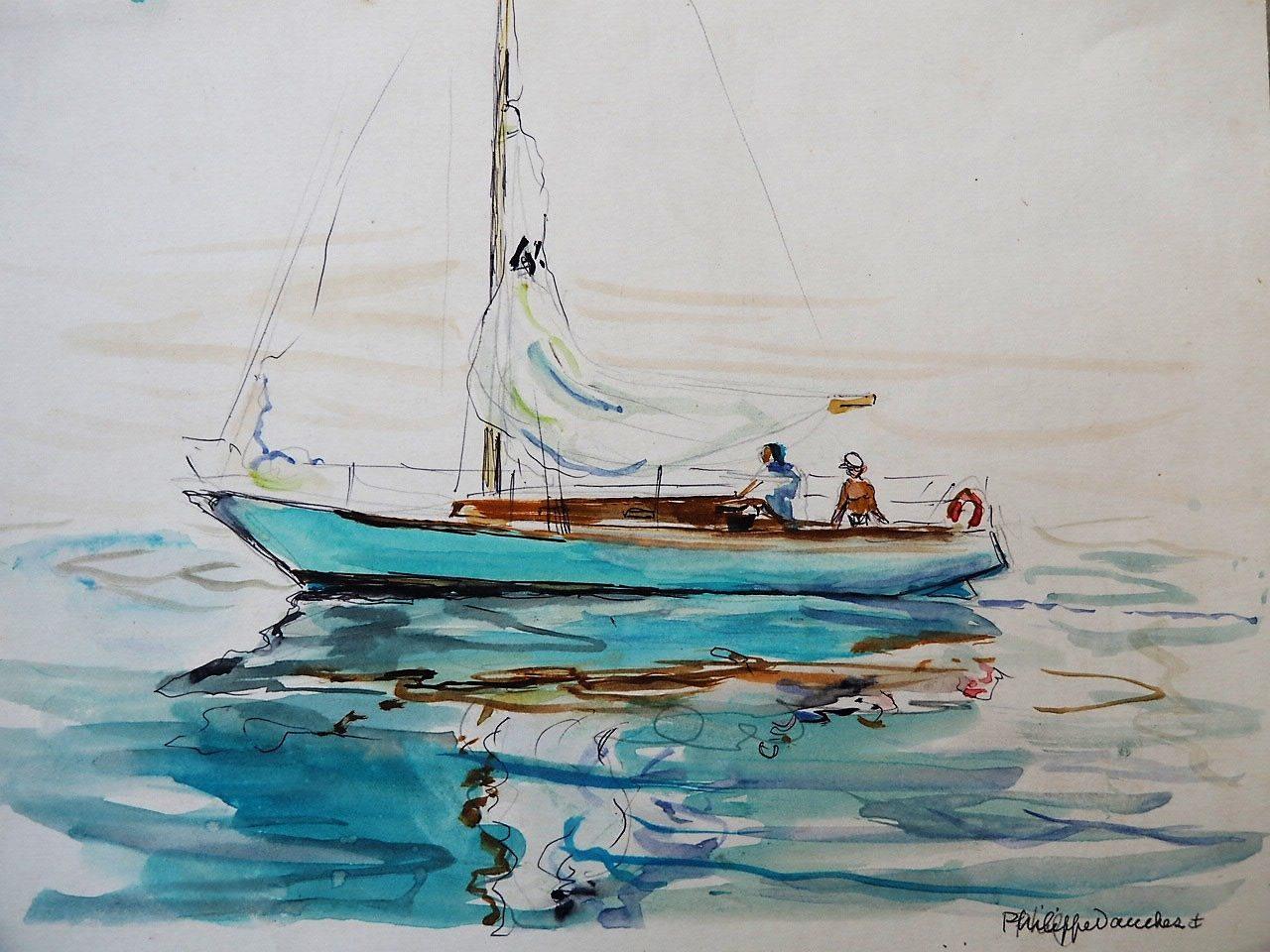 Voilier en méditerranée