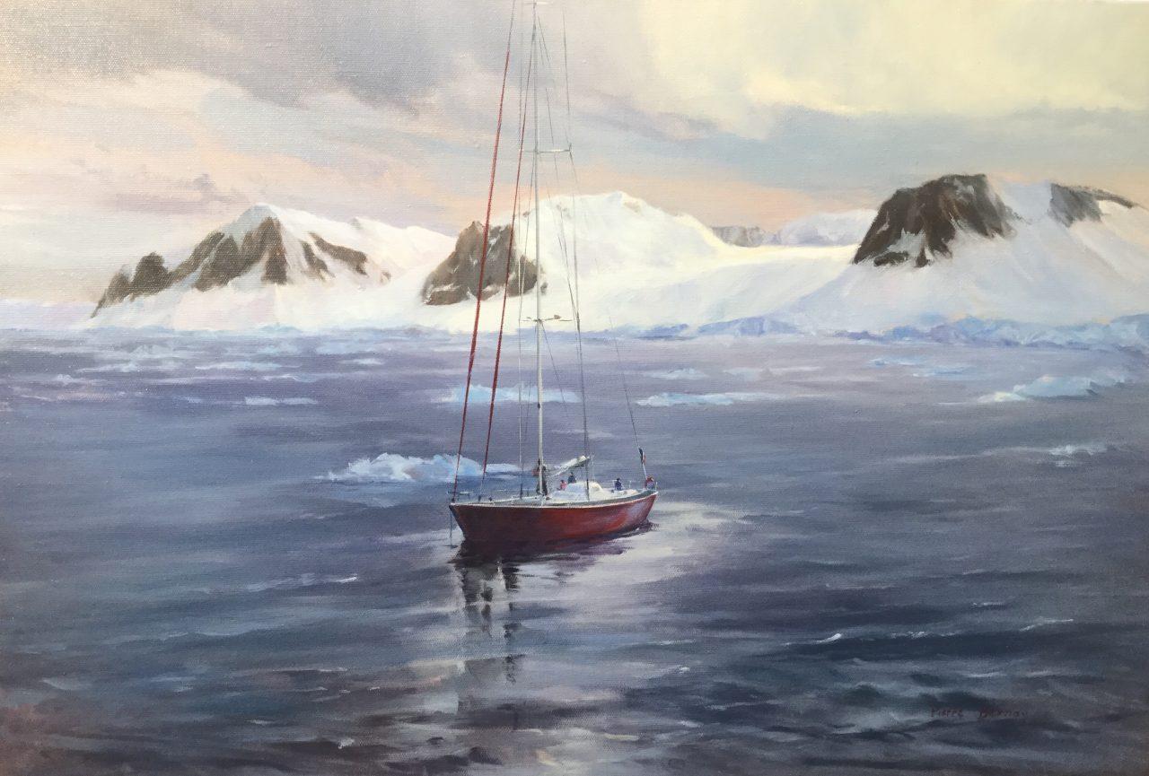 Podorange au mouillage de Plesnau – Antarctique